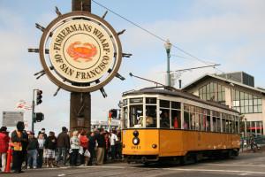 Historic F Line Trolley at Fisherman's Wharf