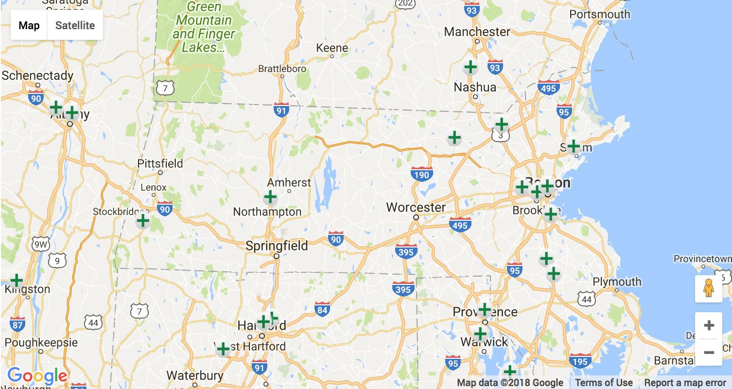Massachusetts Marijuana Dispensary Map & Directory | Kush