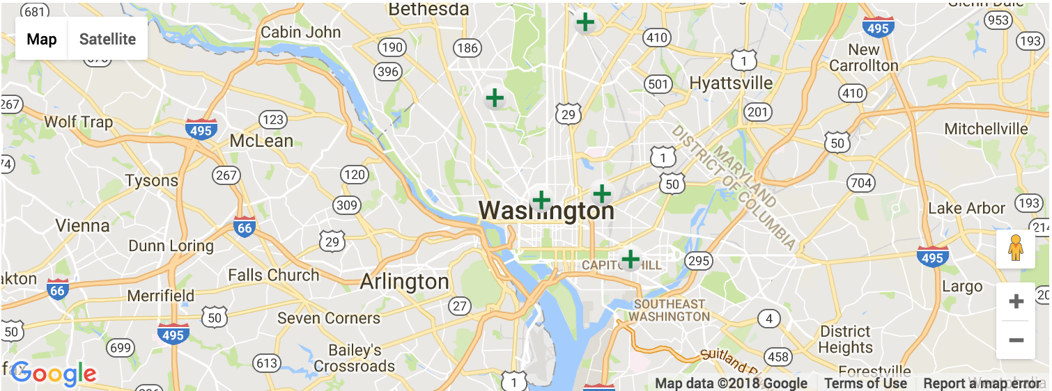 Washington DC Dispensary Map & Directory | Kush Tourism on